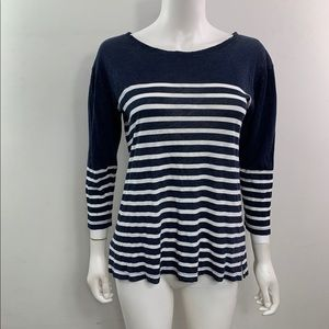 J Crew Boatneck Striped Tee